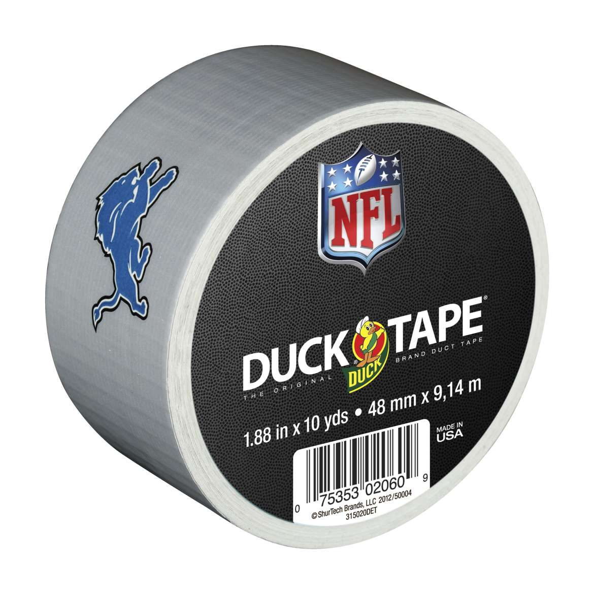 "Duck Brand NFL Licensed Duct Tape, 1.88"" x 10 yard, Detroit Lions"