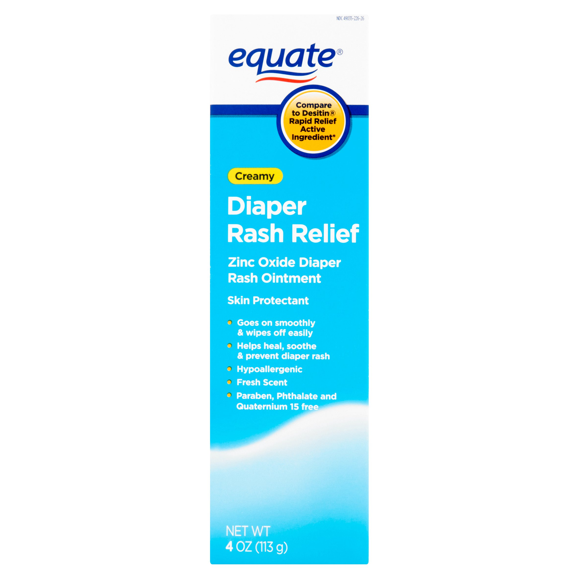 Equate Creamy Diaper Rash Relief Rash Ointment, 4 Oz