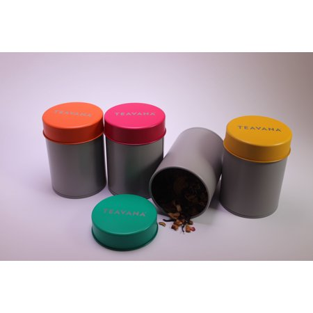 4 Count Teavana Storage Tins For Tea Keeps Tea Fresh Multi Colored 2