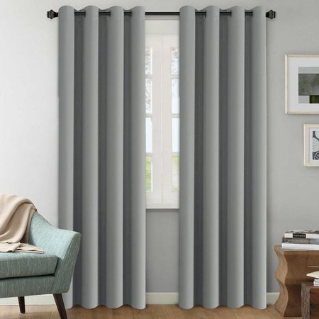 White Horse Hills - Alcott Hill Howser Solid Room Darkening Thermal Grommet Curtain Panels (Set of 2)