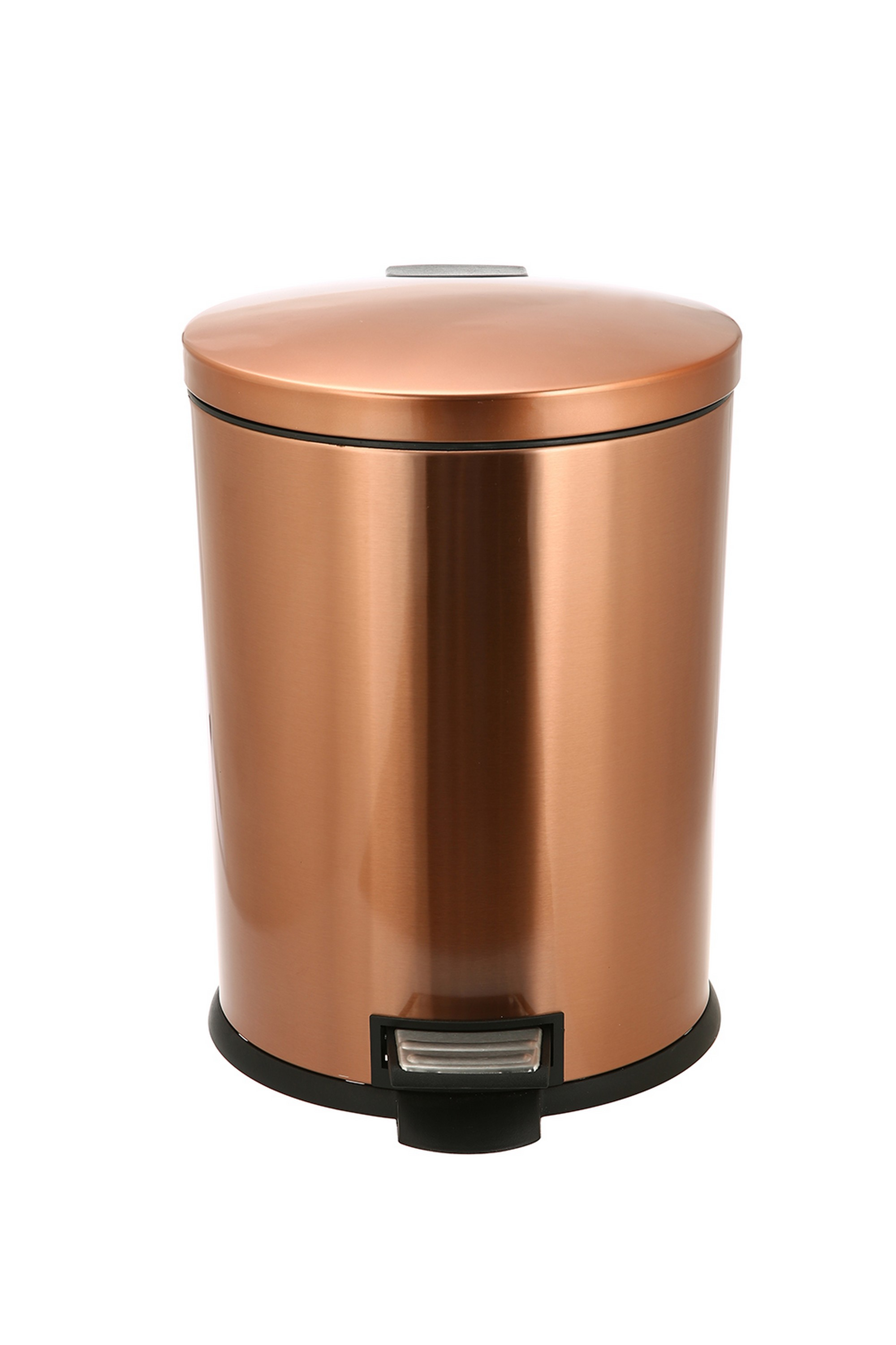 Better homes garden trash waste can 10 5 gal oval copper - Better homes and gardens trash can ...