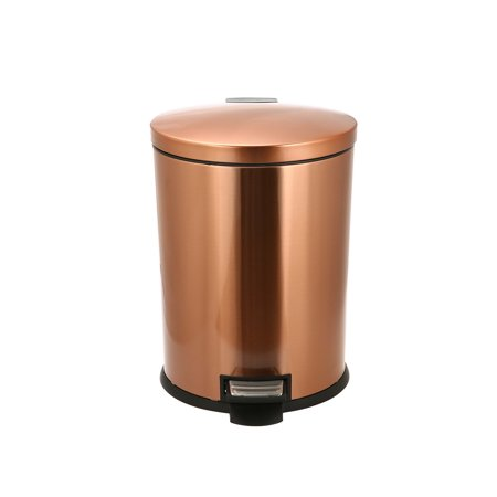 Better Homes and Gardens 10.5 Gallon Copper Oval Waste Can with Soft Close Lid