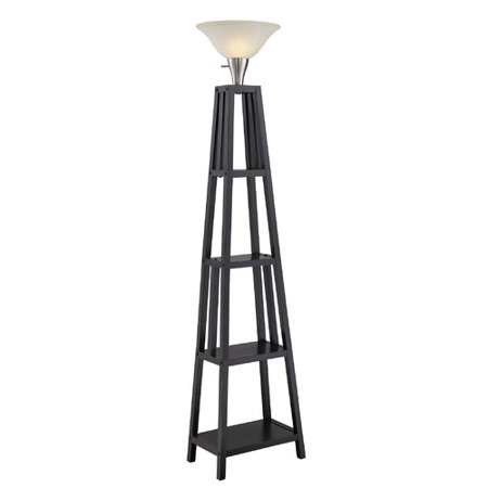normandelighting 69 5 39 39 shelf torchiere floor lamp. Black Bedroom Furniture Sets. Home Design Ideas