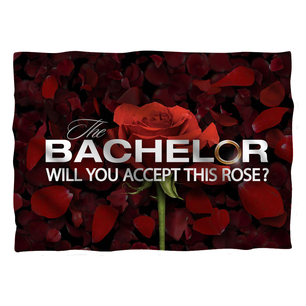 Bachelor Rose Petals (Front Back Print) Pillow Case White One Size