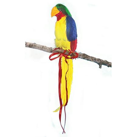 Shoulder Parrot Luau Decoration Costume Prop, Yellow Multi, 10