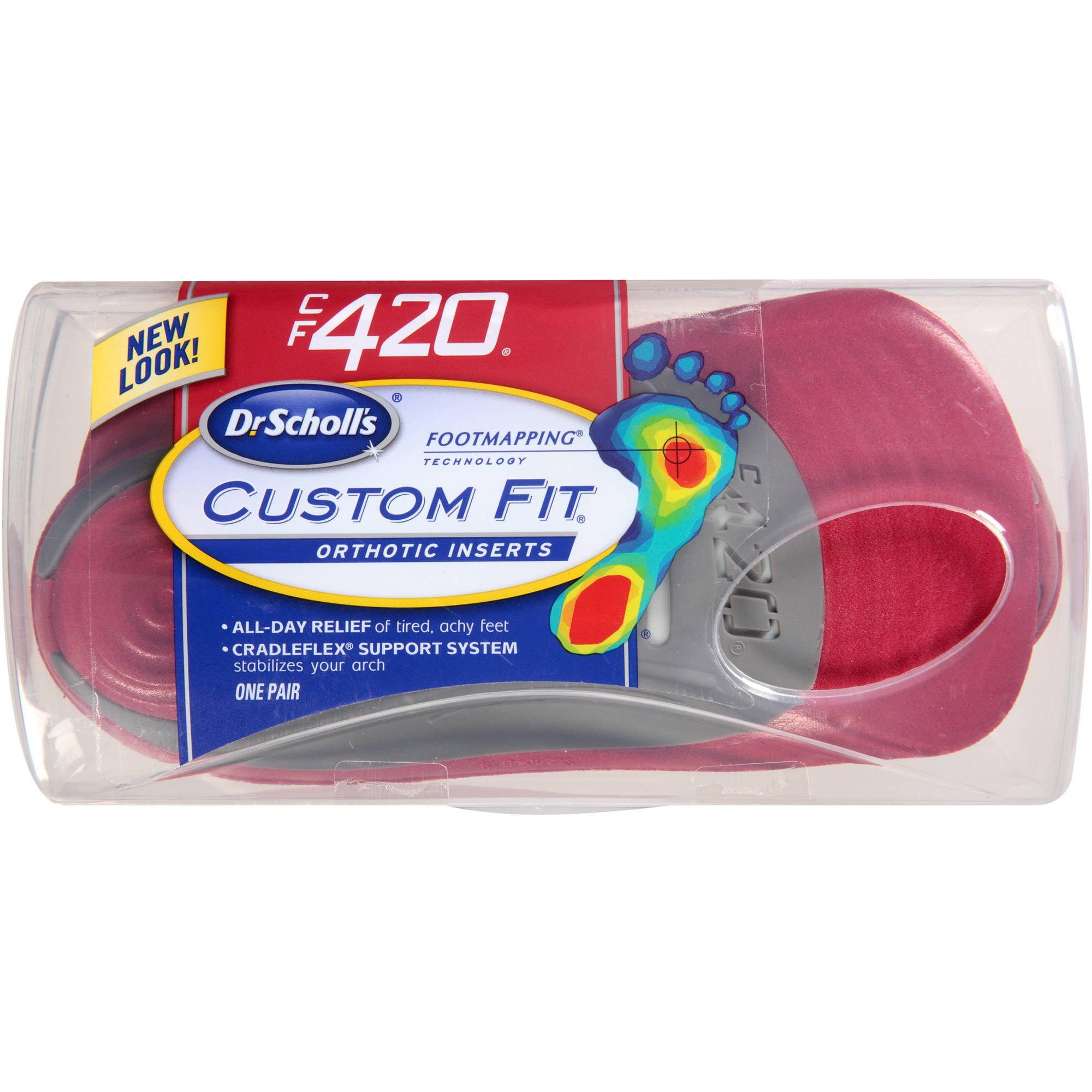 Dr. Scholl's Custom Fit CF420 Orthotic Inserts, 1 pr
