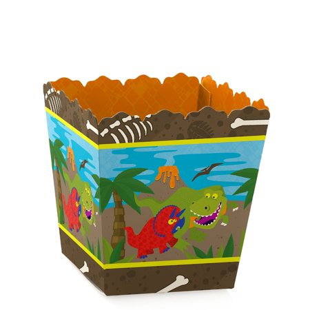 Dinosaur Birthday - Party Mini Favor Boxes - Prehistoric Birthday Party Treat Candy Boxes - Set of 12 - Prehistoric Party Supplies