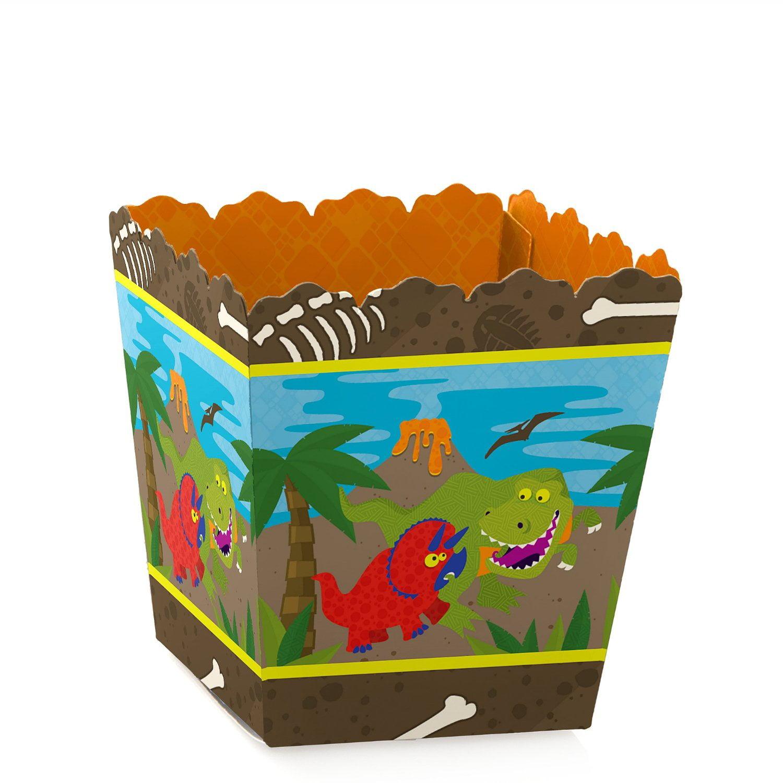 Dinosaur Birthday - Party Mini Favor Boxes - Prehistoric Birthday Party Treat Candy Boxes - Set of 12