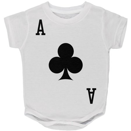 Halloween Ace of Clubs Card Soldier Costume All Over Baby One Piece - Club 20 Reading Halloween