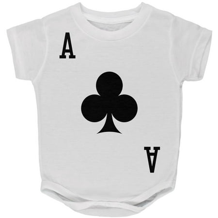 Halloween Ace of Clubs Card Soldier Costume All Over Baby One Piece - Philadelphia Clubs Halloween