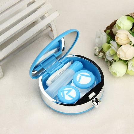 Perfume Bottle Retro Shaped Contact Lens Case Box Container Holder Box Blue](Halloween Contact Lenses Blue Banana)