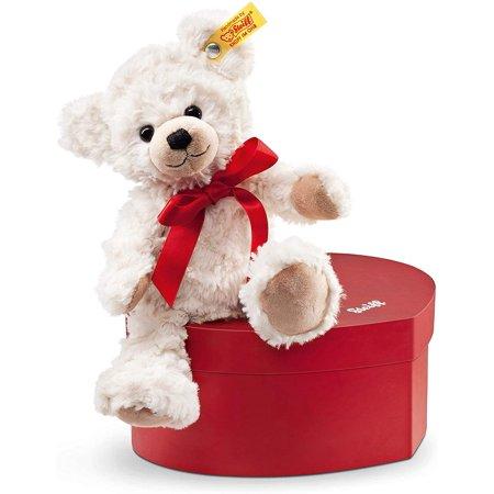 Sweetheart Teddy Bear Plush, Cream