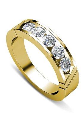 0.35CT Round Cut Diamond Wedding Band