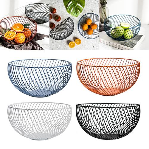 Iron Art Fruit Basket Storage Bowl Living Room Storage Dried Fruit Holder