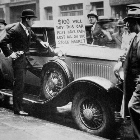 Man Selling His Car, Following the Wall Street Crash of 1929, 1929 Print Wall