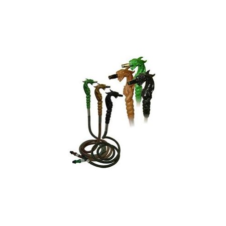 """(VAPOR HOOKAHS 72"""" DRAGON HOSE: SUPPLIES FOR HOOKAHS – These Hookah hoses are accessory pieces for shisha pipes. These synthetic leather accessories parts are completely washable. (Brown Hose))"""