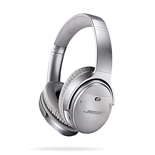 Bose QuietComfort 35 Wireless Headphones, Noise Cancelling Silver by Bose