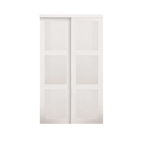 Erias Home Designs Baldarassario MDF 2 Panel Painted Sliding Interior Door