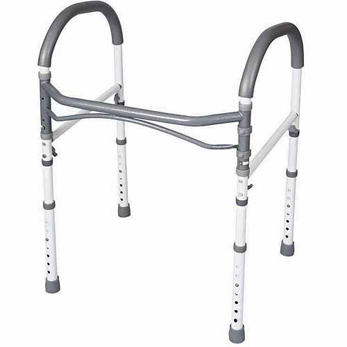 Carex Bathroom Toilet Safety Rails - Toilet Handles For Elderly and Handicap - Bathroom Safety Aid and Handrail