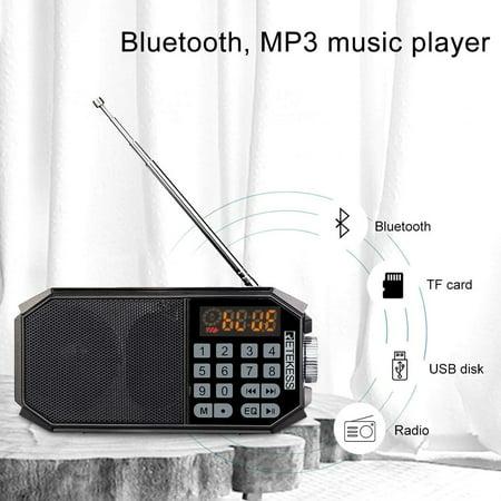 Retekess TR610 Bluetooth Speaker with FM Radio Portable Wireless Speaker MP3 Player Support Handfree Loop Playback - image 2 de 5