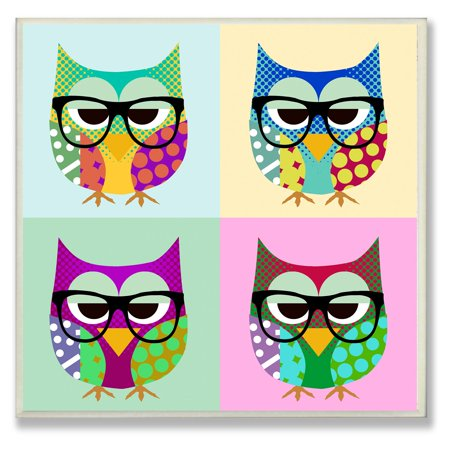 Stupell Decor Owls Wearing Eyeglasses Wall Plaque