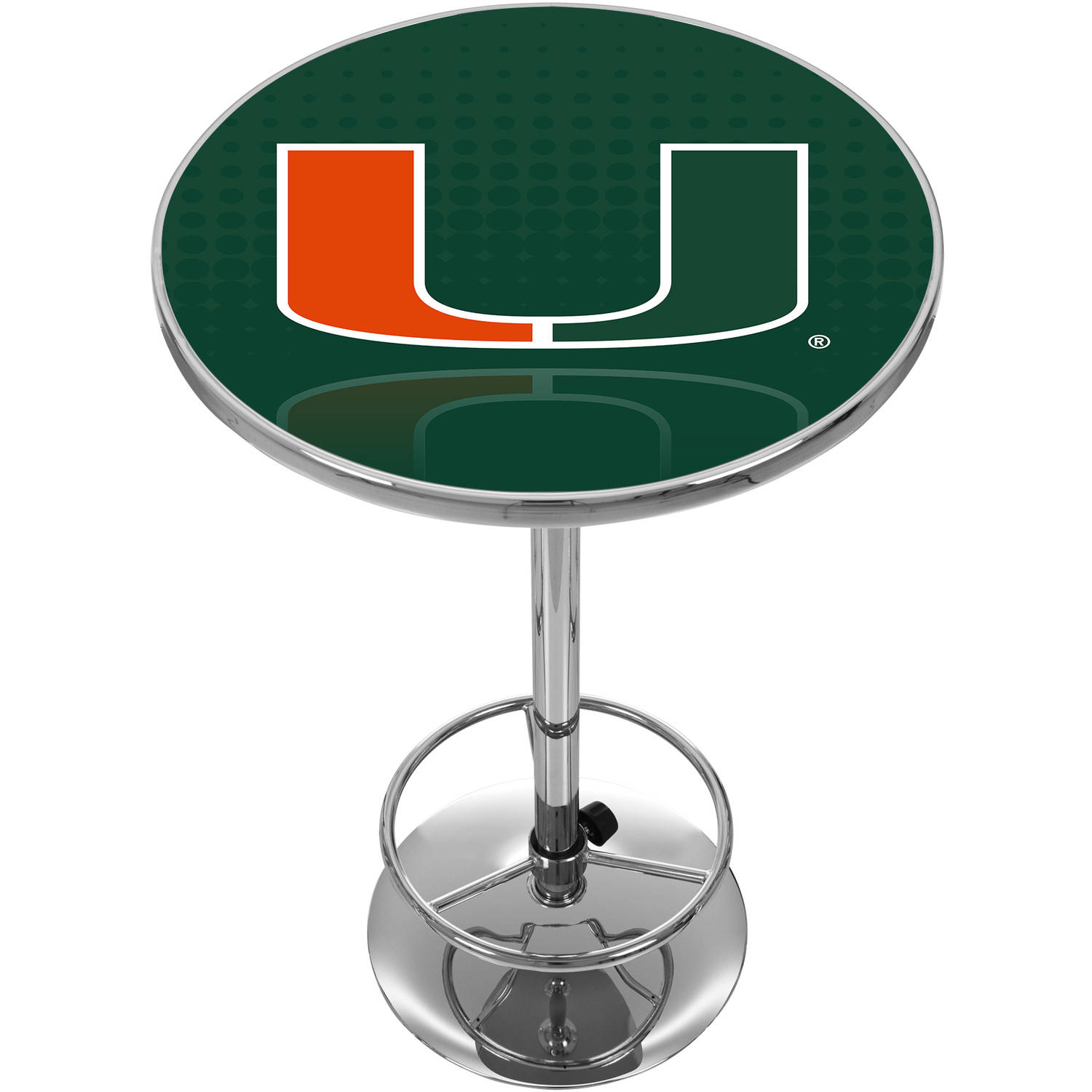 University of Miami Chrome Pub Table, Reflection