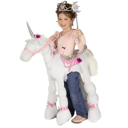 Ride a Unicorn Child Costume M (Unicorn Child Costume)