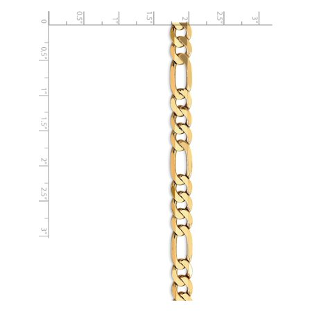 14k Yellow Gold 7.5mm Flat Figaro Chain - image 3 of 5