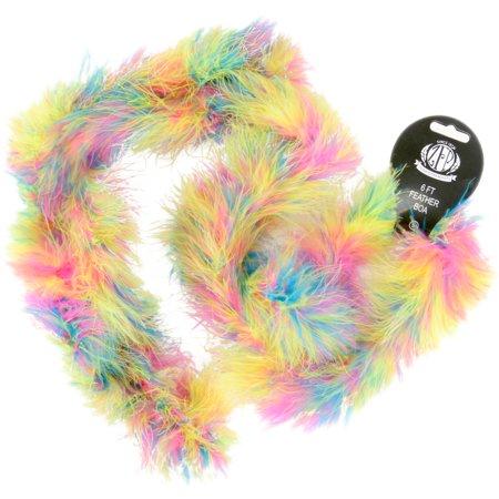 Marabou Feather Boa, Multicolor, Medium Weight, 72