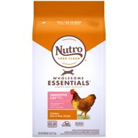 Nutro Wholesome Essentials Natural Dry Cat Food, Sensitive Cat Chicken, Rice & Peas Recipe, 5 lb. Bag
