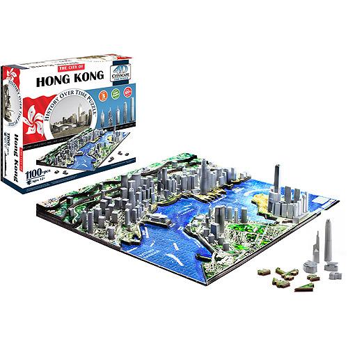 4D Cityscape Hong Kong Time Puzzle