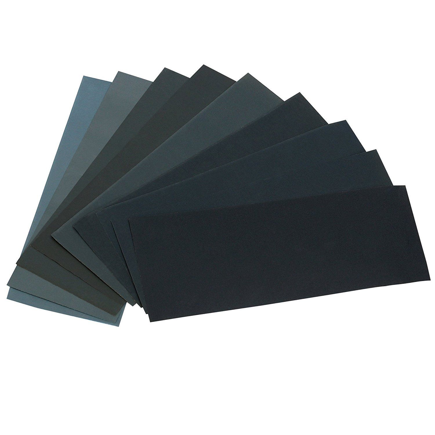 Gimars 36pcs 400 to 3000 Grit Wet Dry Waterproof Sandpaper Assortment 9 x 3.6 in Abrasive Sandpaper Sheets for Auto Sanding, Wood Furniture Finishing and Polishing