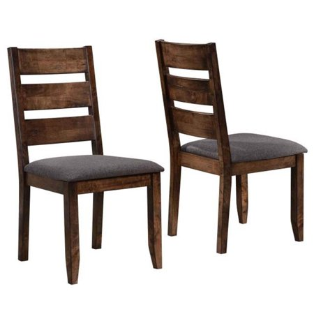 A Line Furniture Milano Rustic Knotty Ladder Back Dining Chairs (Set of 2)
