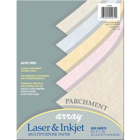 Pacon, PAC101079, Parchment Bond Paper, 500 / Ream, Natural,Gold,Tan,Blue,Pink