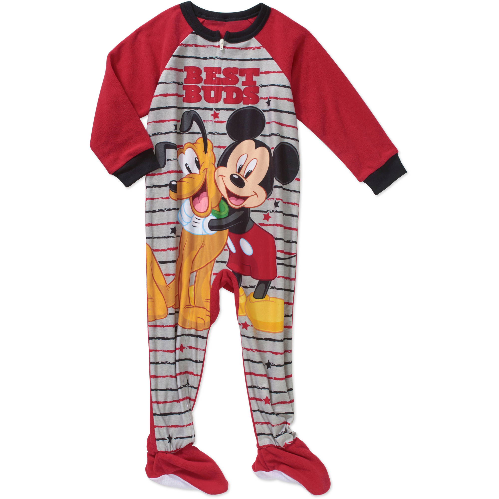 Mickey Mouse Toddler Boy Micro Fleece Footed PJ