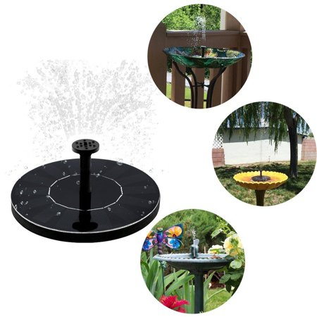 Floating Garden (Peralng Mini Solar Powered Floating Fountain Pool Water Pump Garden Plants Water With 3 Different Spray Heads for Bird Bath )