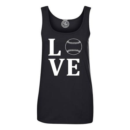 Love Baseball Sports Apparel Womens Graphic Tees Tank Top