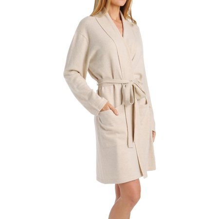 Cashmere Womens Robe - Women's Arlotta 2012 Cashmere Classic Short Robe With Shawl Collar