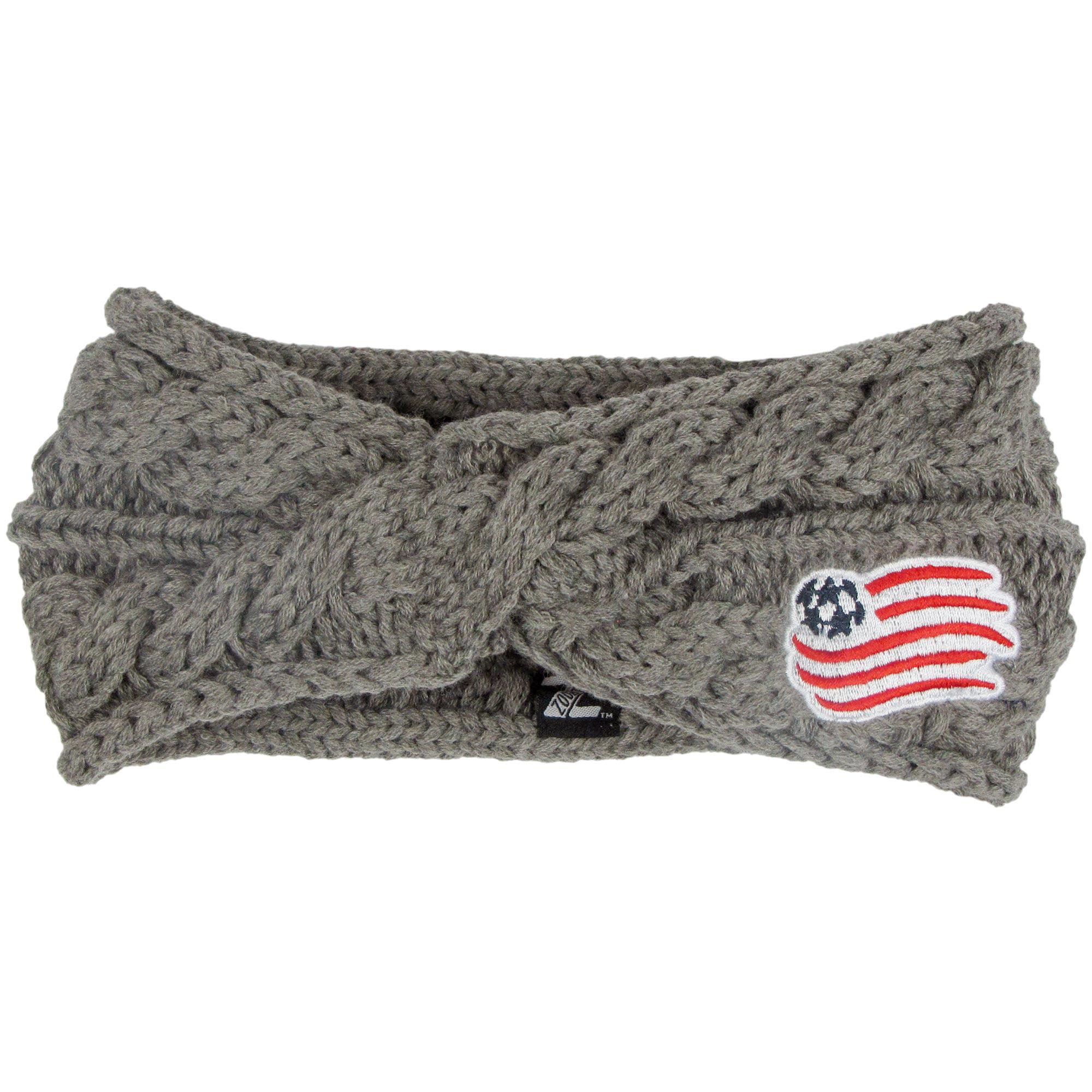 New England Revolution ZooZatz Women's Cable Headband - Charcoal - No Size