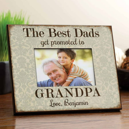 Personalized Best Dads Get Promoted To Grandpa