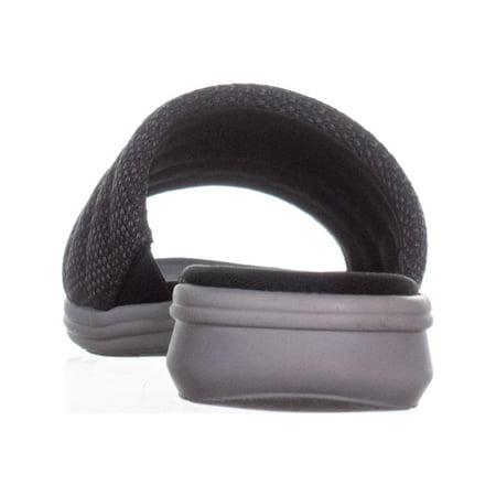 Aerosoles Great Call Wedge Slide Sandals, Black Combo - image 4 de 6