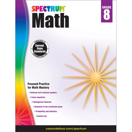 Spectrum Spectrum Math Workbook, Grade 8 160 pages