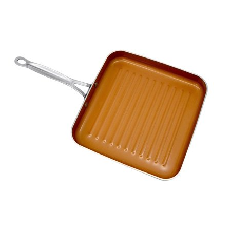 Gotham Steel Non-stick Copper Grill Pan with Ti-cerama Surface As Seen On Tv