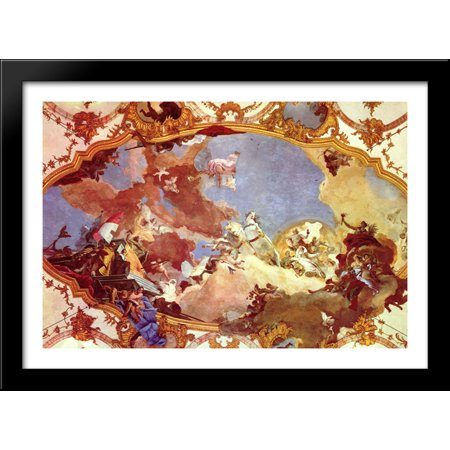 Apollo leads Frederick Barbarossa Beatrix of Burgundy 40x28 Large Black Wood Framed Print Art by Giovanni Battista Tiepolo