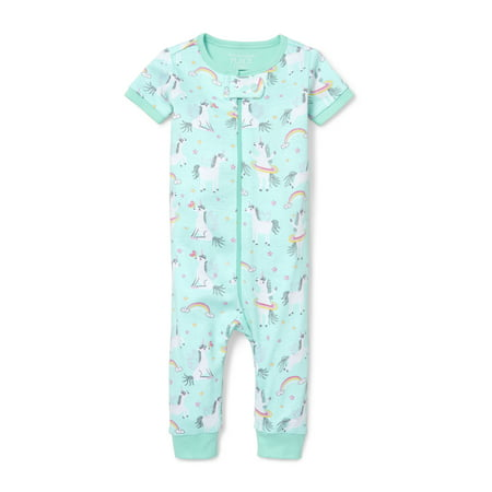 Baby And Toddler Girls Unicorn Fun Printed Snug-Fit PJ Stretchie (Baby and Toddler Girl)](Girls Night Out Accessories)