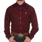 Cinch Mens   Pinpoint Oxford Long Sleeve Shirt XX-Large Burgundy