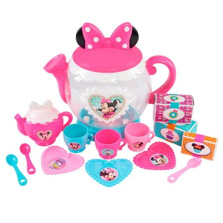 NEW Minnie Mouse large Teapot Set Kids Pretend Food Play set Gift - Minnie Mouse Tea Set
