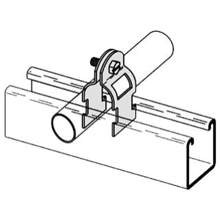 B-line Clamps (B-Line B2208-ZN-1/2 Multi-Grip Conduit to Strut Clamp,)