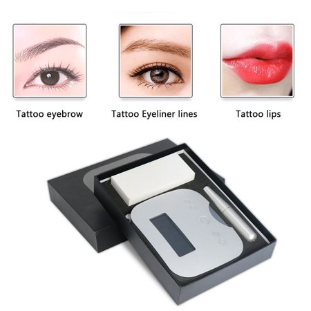 Pinkiou Microblading Eyebrow Machine Pen Panel Control Permanent Makeup Kit Tattoo Rechargeable Machine with 1RL