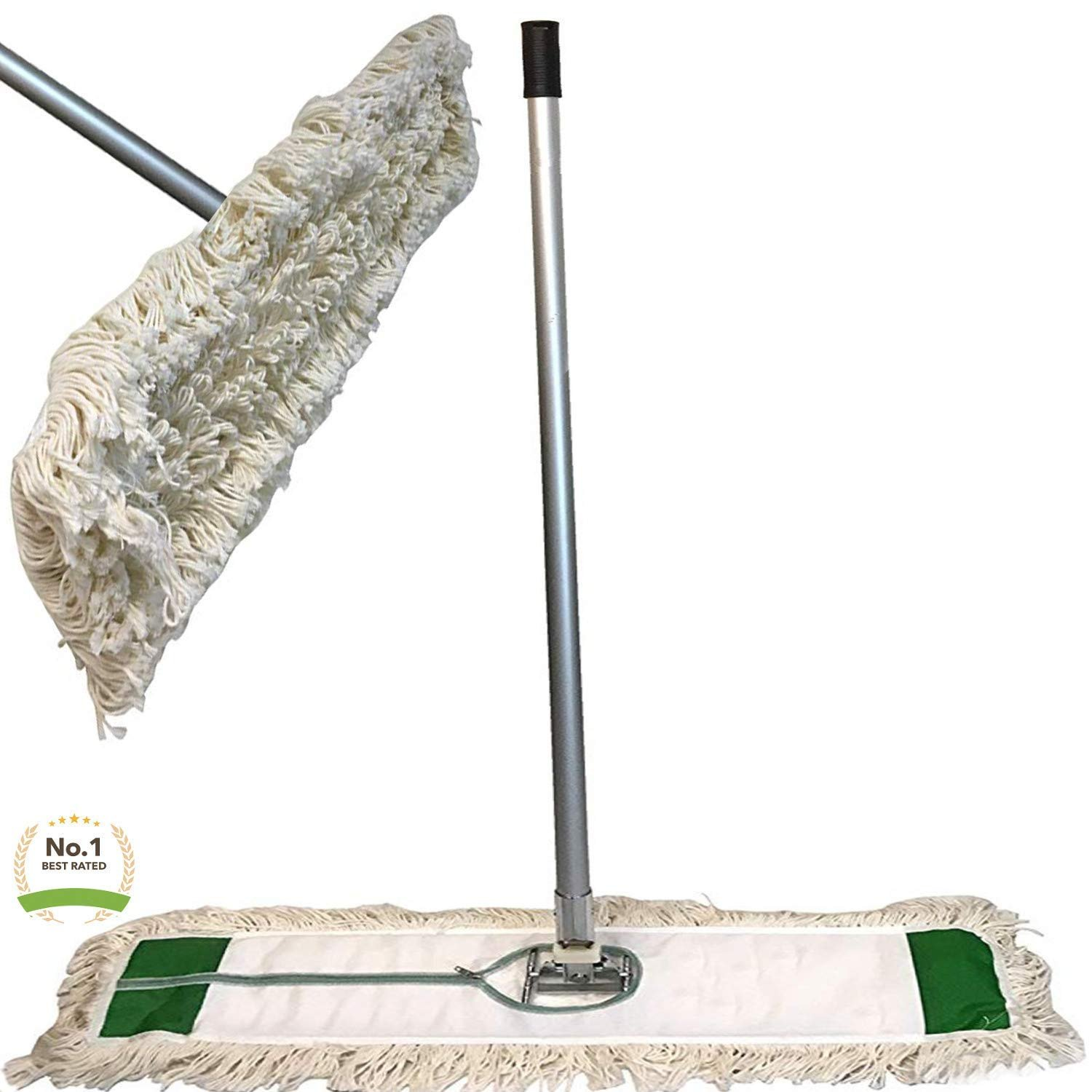 "Industrial Class 24"" Strength Cotton Dust Mop with Head 